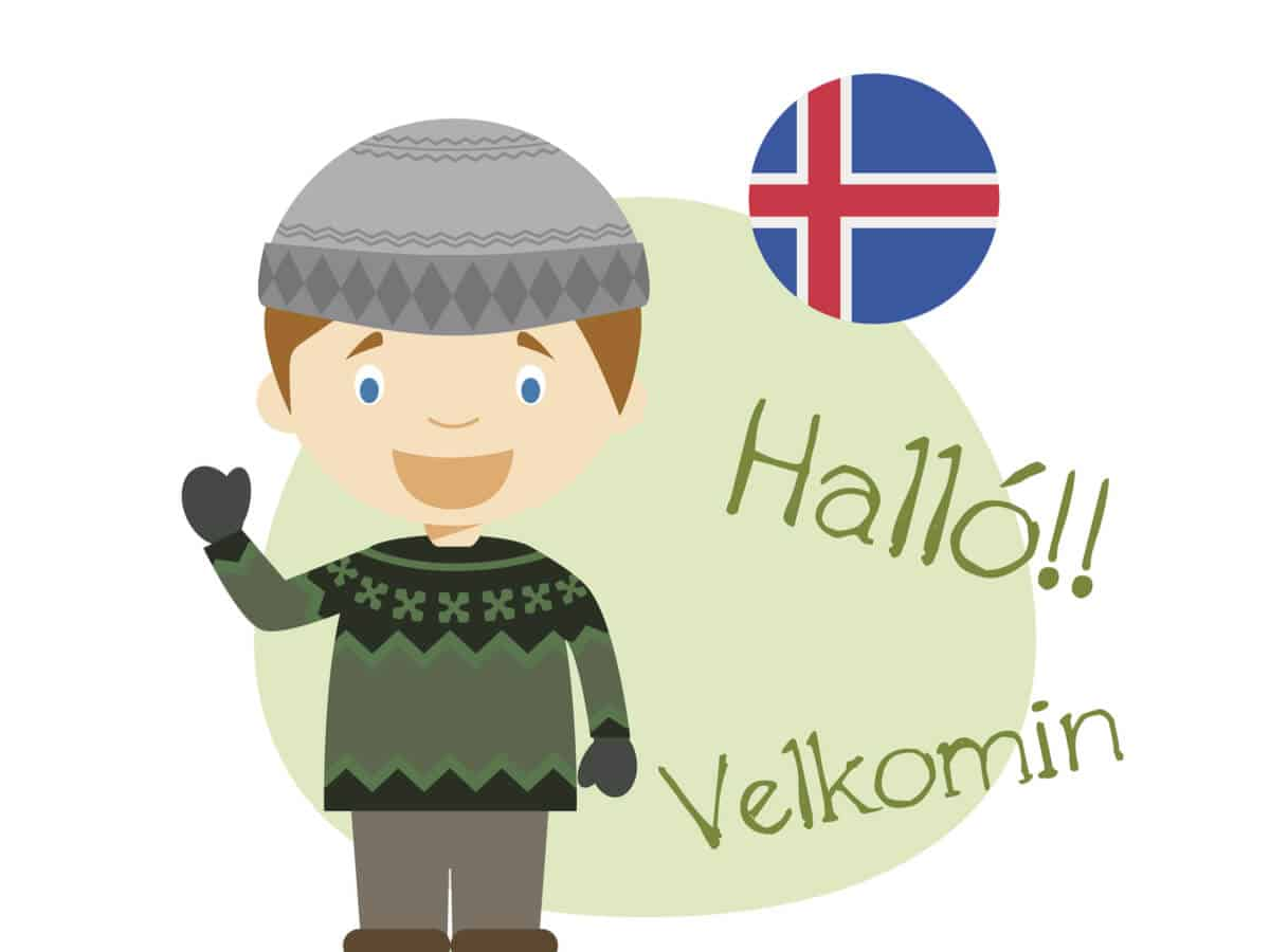 Halló means hello in Icelandic