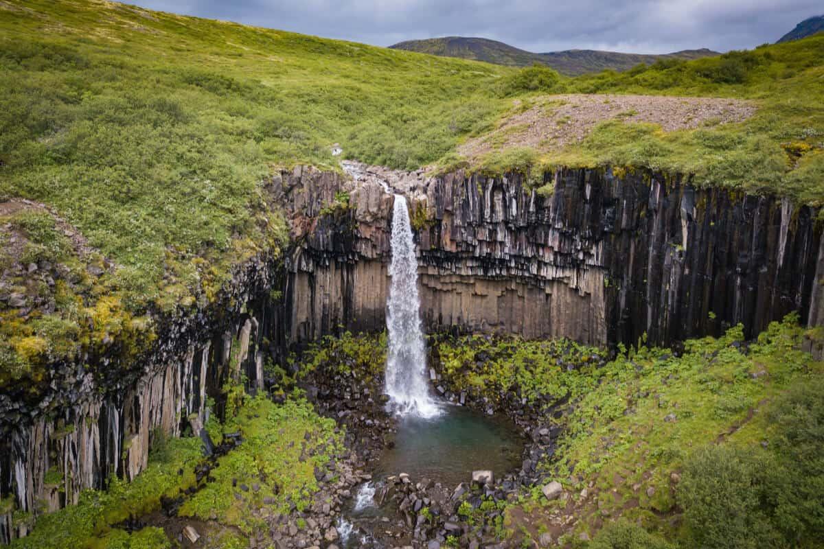 Svartifoss is Iceland's black waterfall
