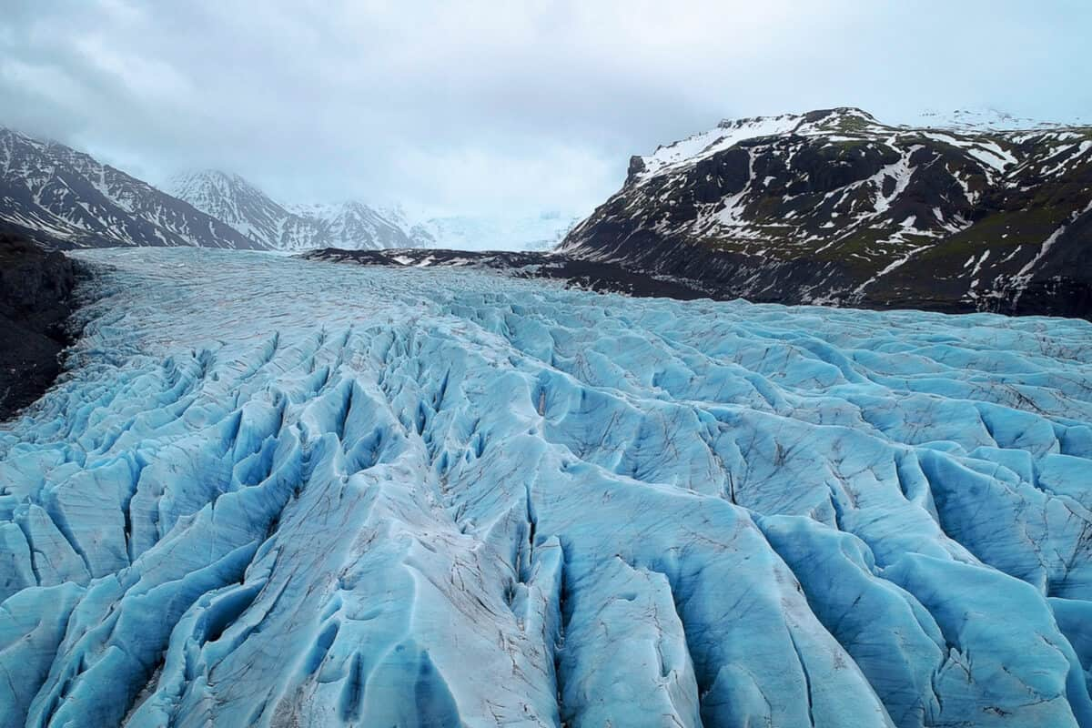 Skaftafell glacier in one of Iceland's National Parks