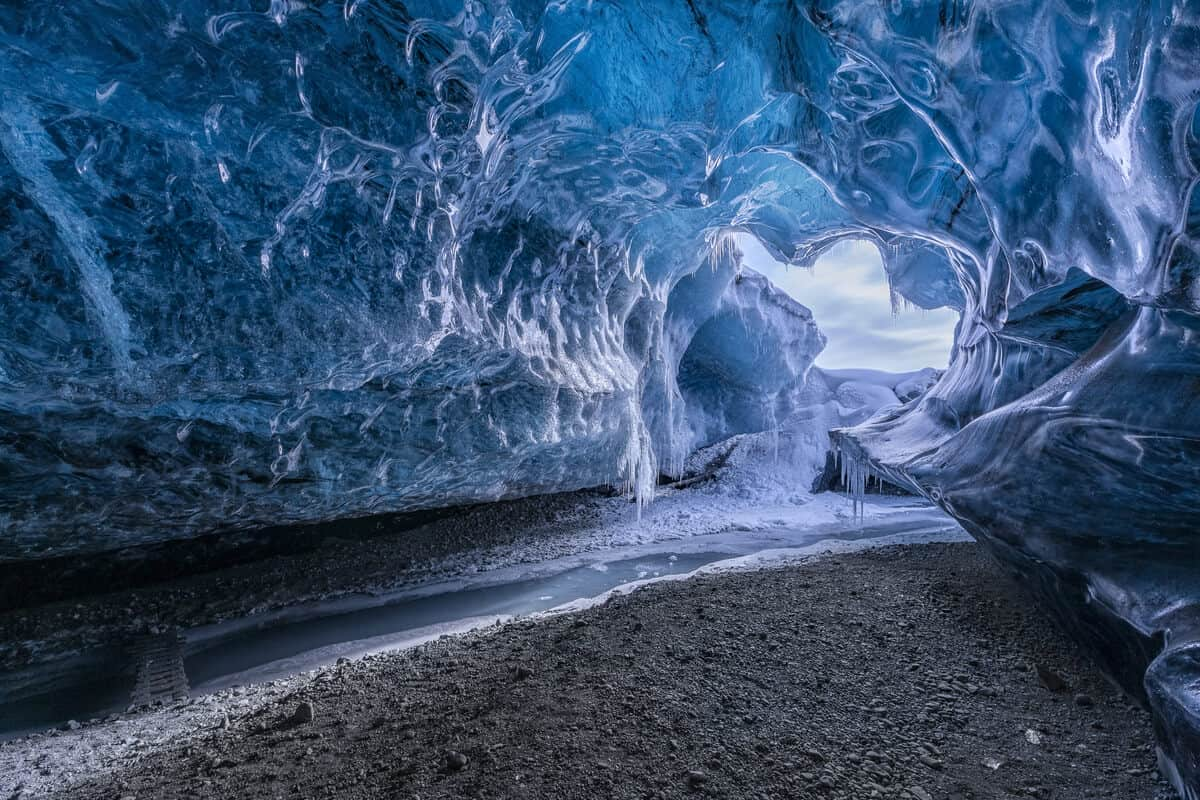 Iceland day tours like an ice cave are an adventure