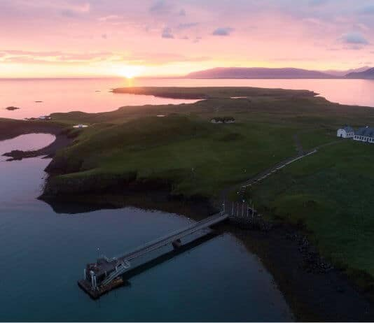 Videy island at sunset