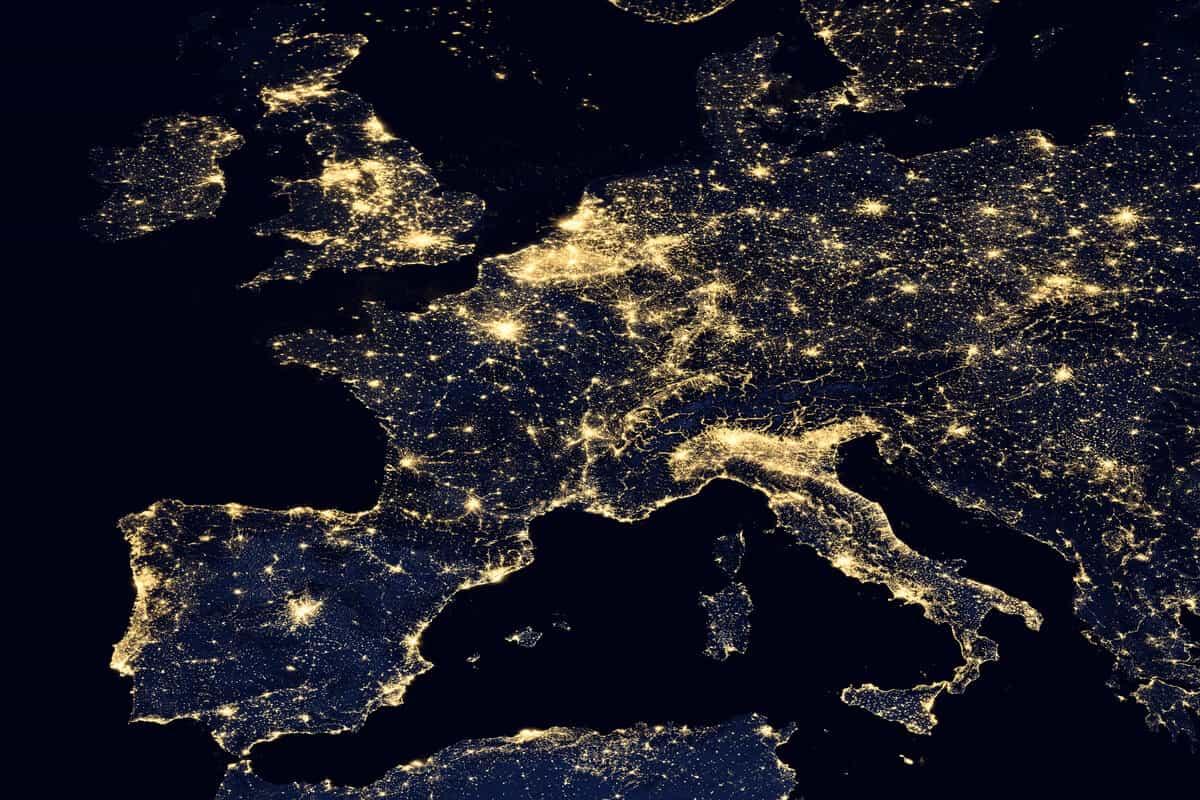 Europe map Iceland EU member country