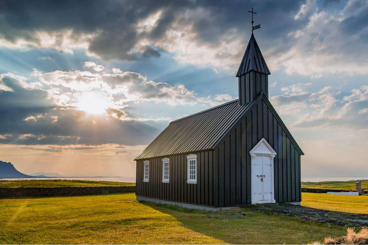Budir black church is one of Iceland's prettiest churches