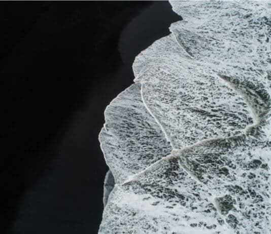 Iceland beaches black sand