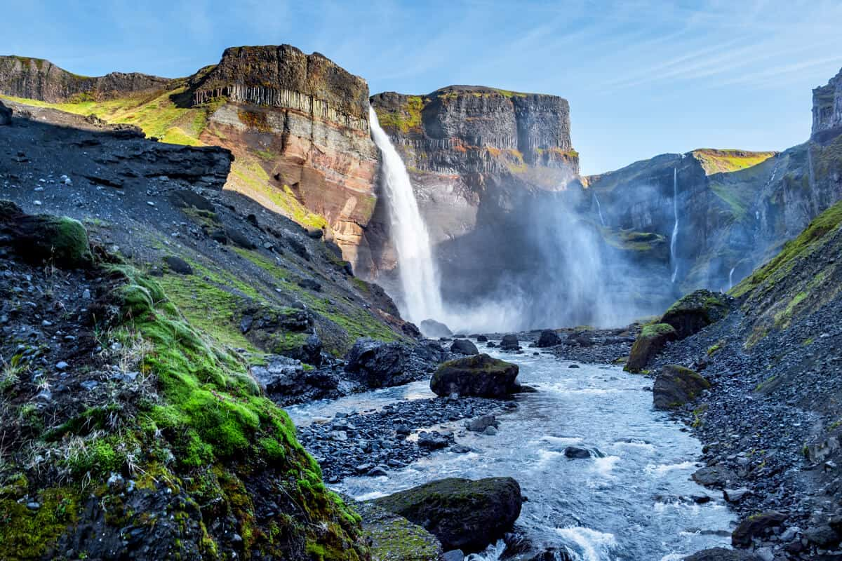 Haifoss Iceland River Valley