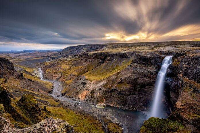 Haifoss waterfall Iceland