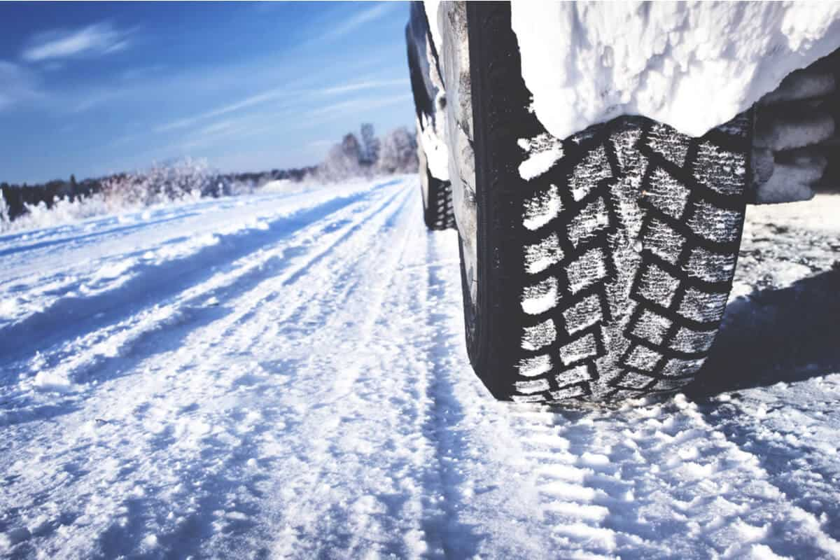 Snow tires in Iceland