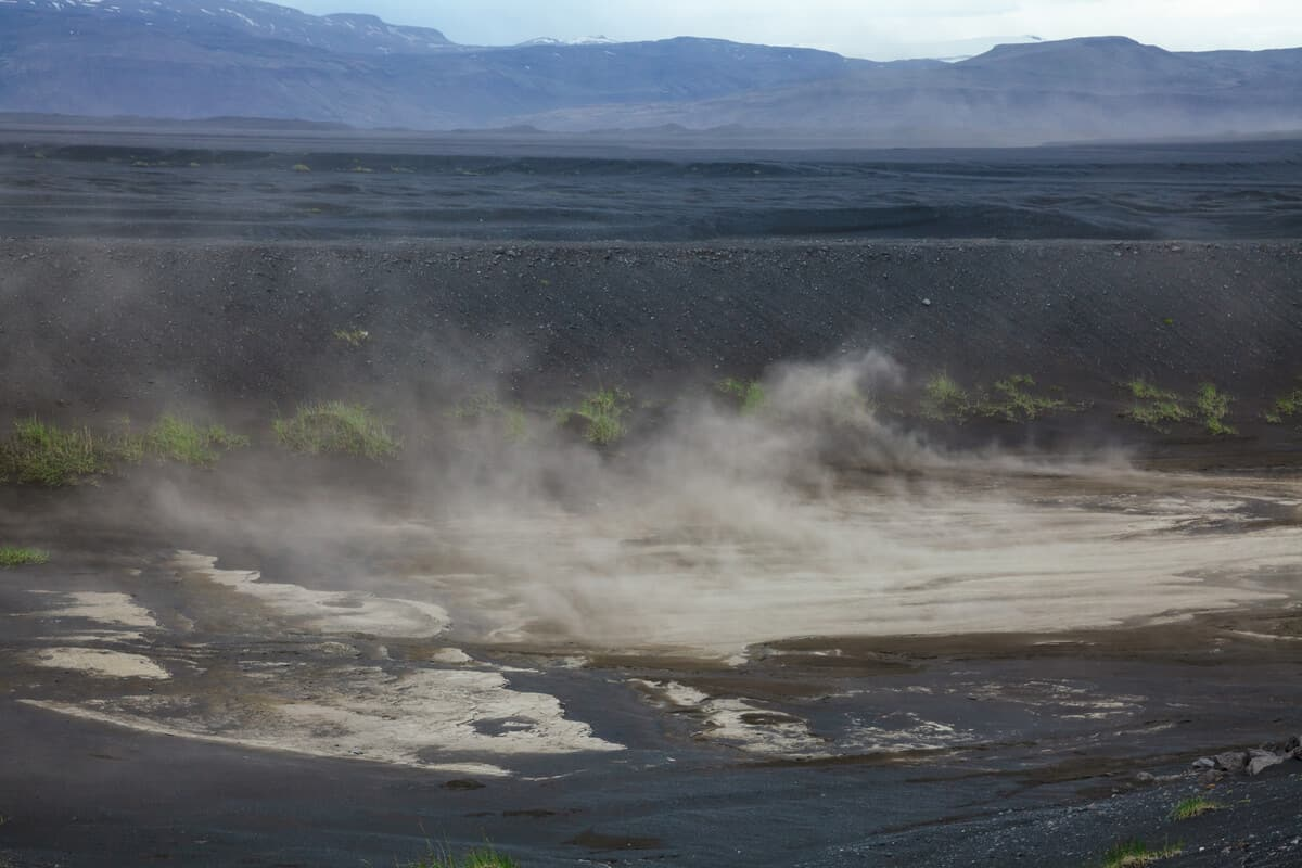 Small sandstorms in Iceland