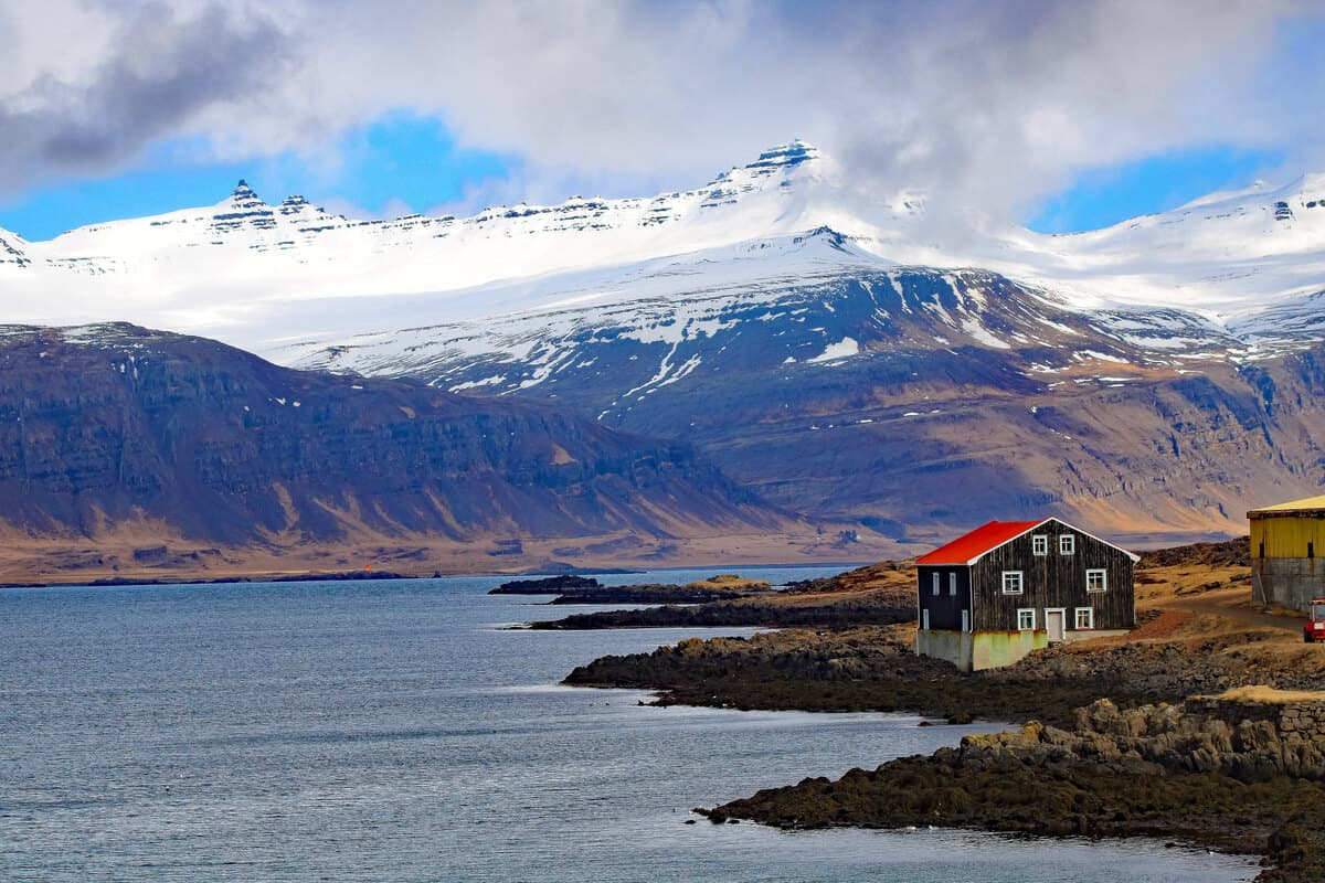 East fjords Iceland has beautiful views