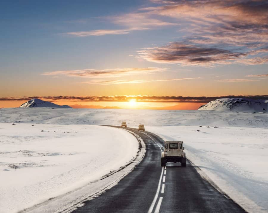 Driving Iceland