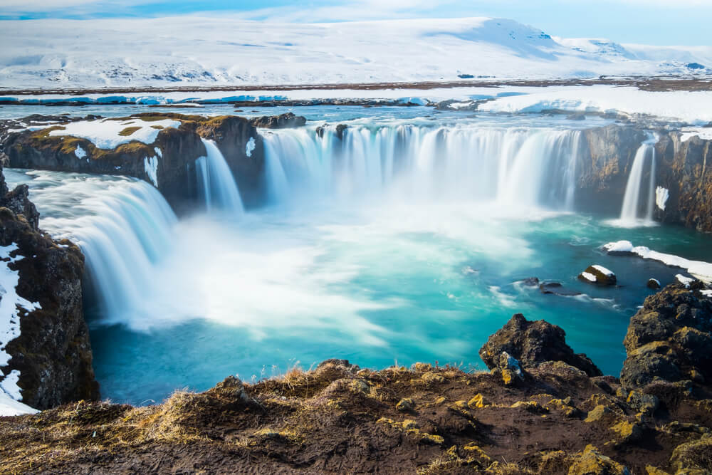 The powerful blue waters of Dettifoss make it one of Iceland's most beautiful waterfalls