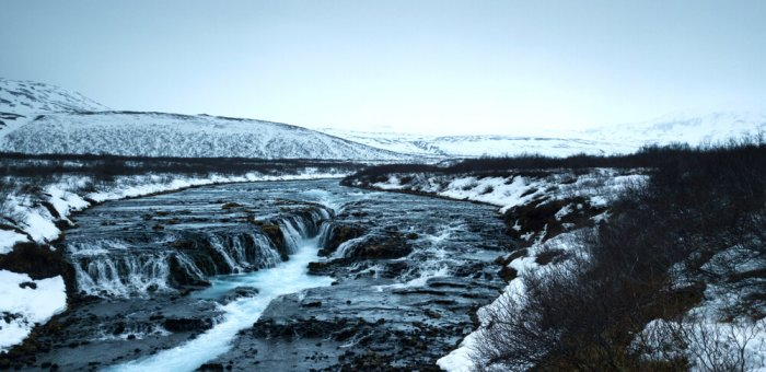 Iceland has many sweeping landscapes like this waterfall, perfect for filming Game of Thrones