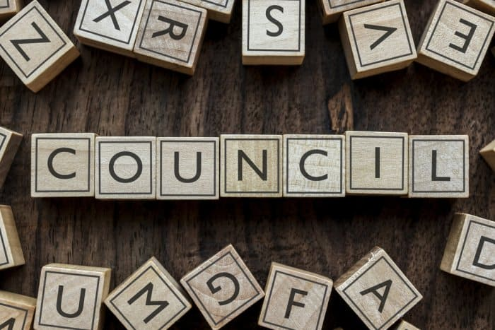 Letter blocks spelling council for Iceland's Althingi parliament