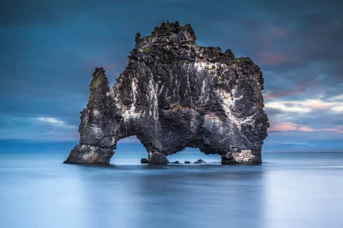 North Iceland's Hvitserkur troll rock formation