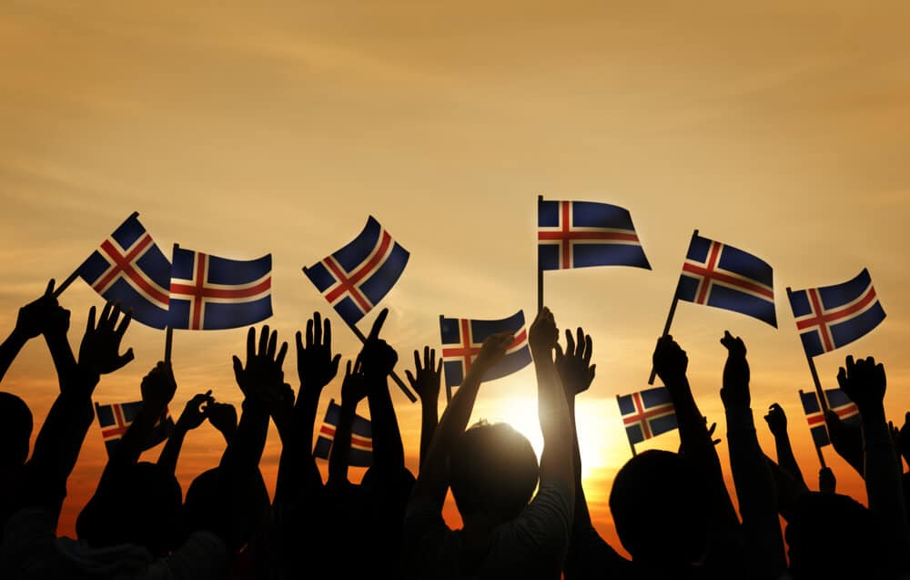 Icelanders are joyful on Iceland's Independence Day