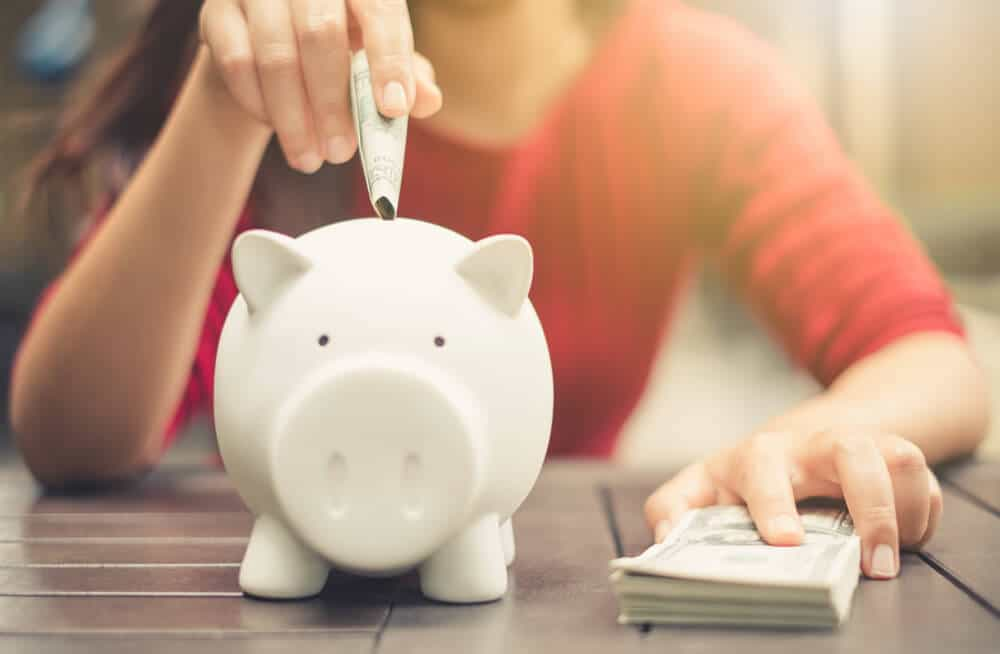 piggy bank for saving money, buying cheap food is a great way to do so