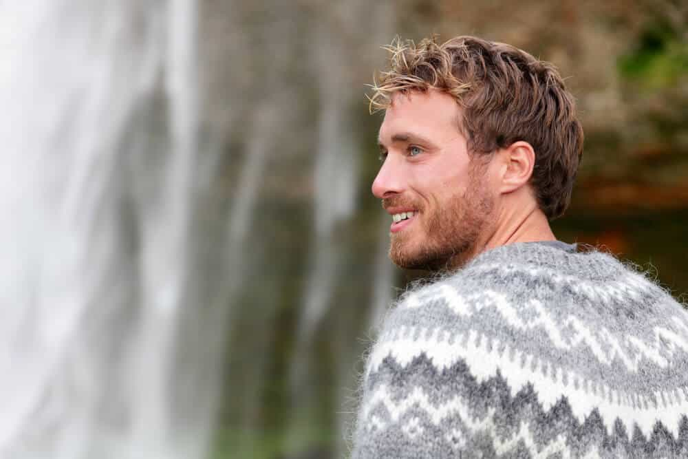 Man from Iceland wearing traditional Icelandic sweater