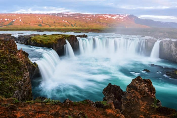 Godafoss waterfall in Iceland is the waterfall of the gods