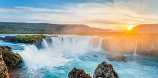 Godafoss waterfall in Iceland has an interesting history