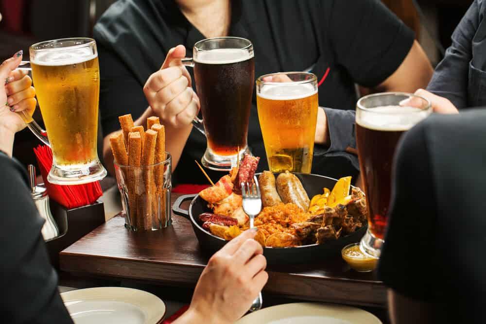 Friends meeting in bars in Reykjavik