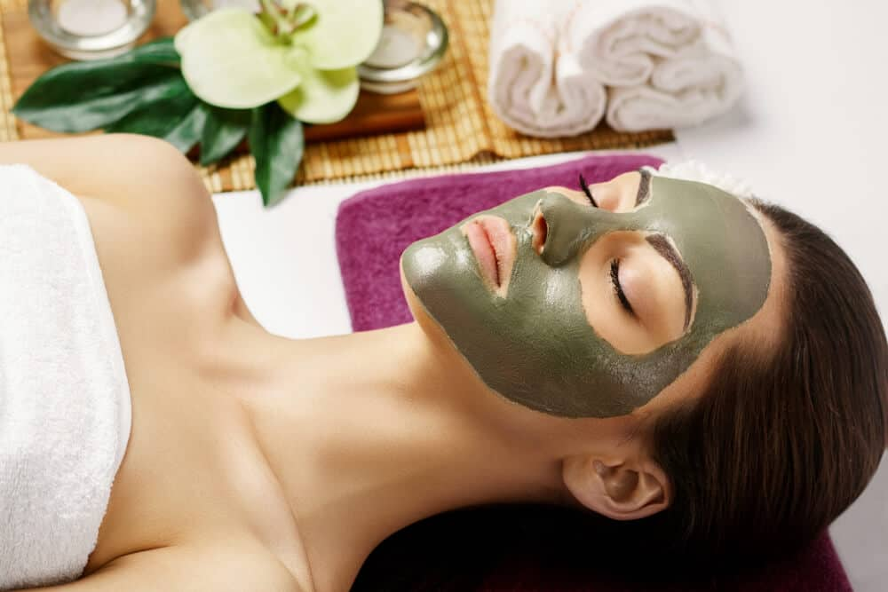 Woman getting a facial at the Blue Lagoon Retreat Spa