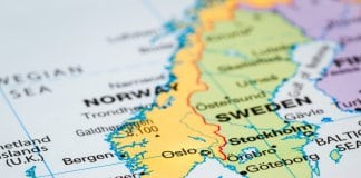 Map of Scandinavia with Norway, Sweden and Denmark. Is Iceland Scandinavian?