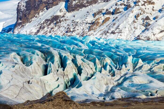 The glacier at Iceland's Vatnajökull National Park
