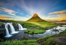 Mount Kirkjufell and Kirkjufellsfoss waterfall are star attractions in Iceland's Snaefellsnes peninsula