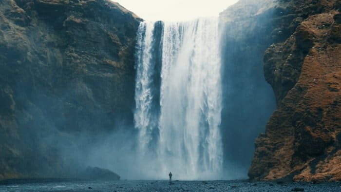 Iceland's Skógafoss water is a stop that will add time to your trip around Iceland's Ring Road
