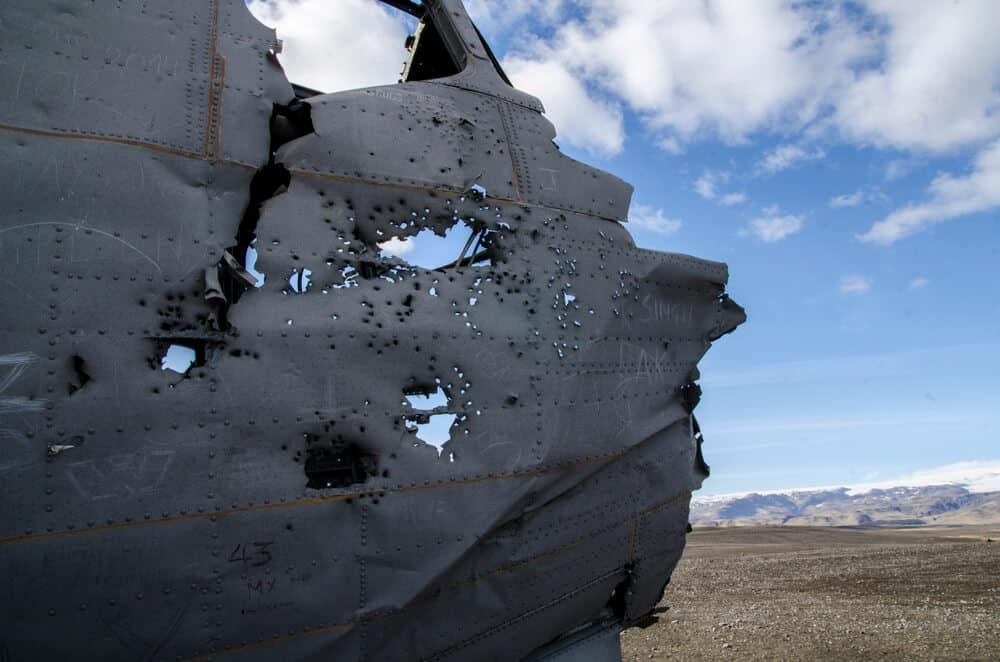 Detail from the Sólheimasandur beach plane wreckage