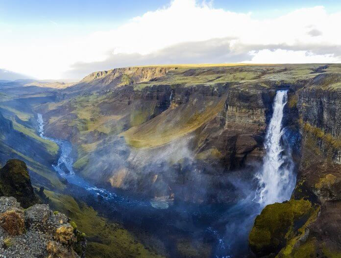 Spring waterfall in Iceland. What's the best month to visit?