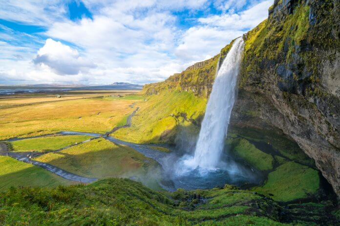 Iceland's most beautiful waterfall is Seljalandsfoss