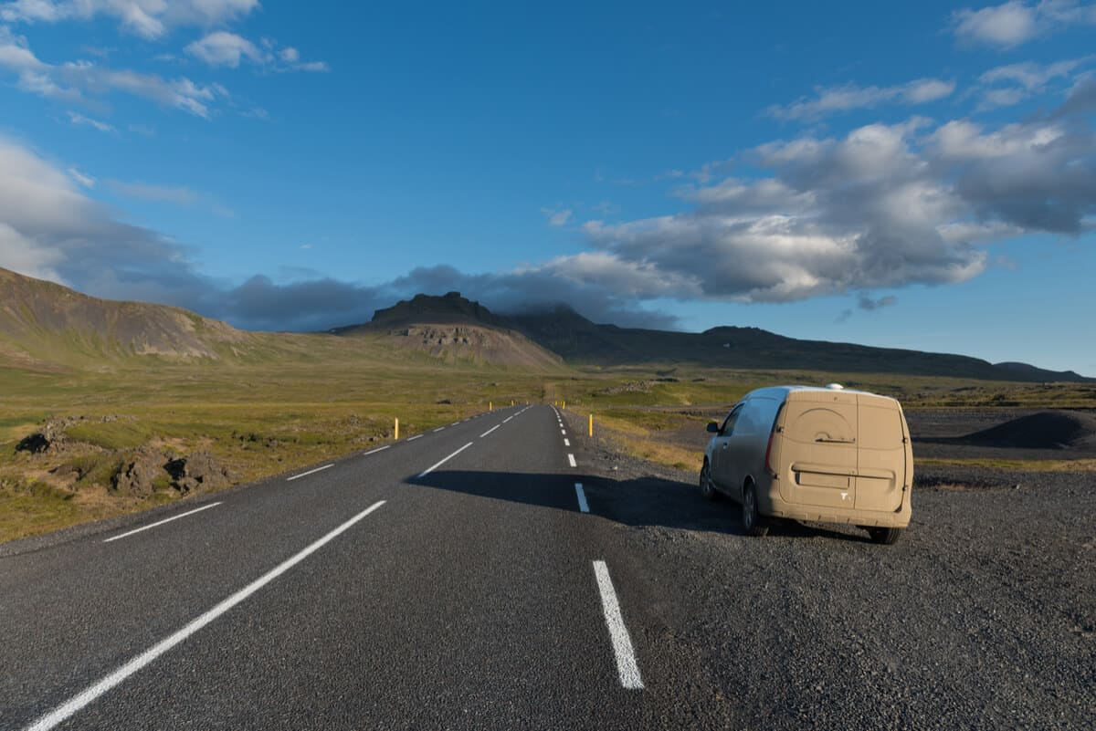 Do you need rental insurance in Iceland like this dirty campervan?