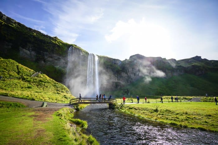 Seljalandsfoss is a summer hotspot for tourists in Iceland