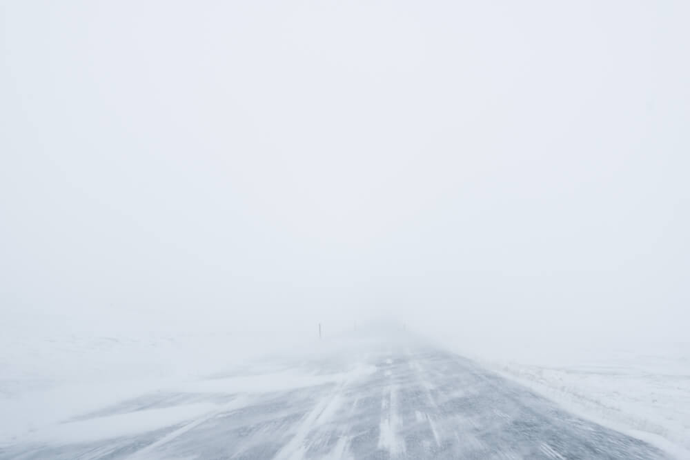 Snowstorms makes winter driving in Iceland dangerous