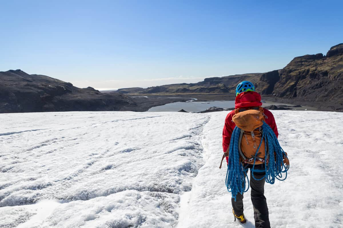 It's important to prepare with the right equipment for your glacier hike