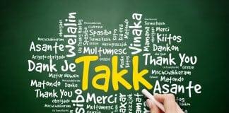 Takk means thank you in Icelandic