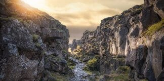 Thingvellir is a popular national park in Iceland