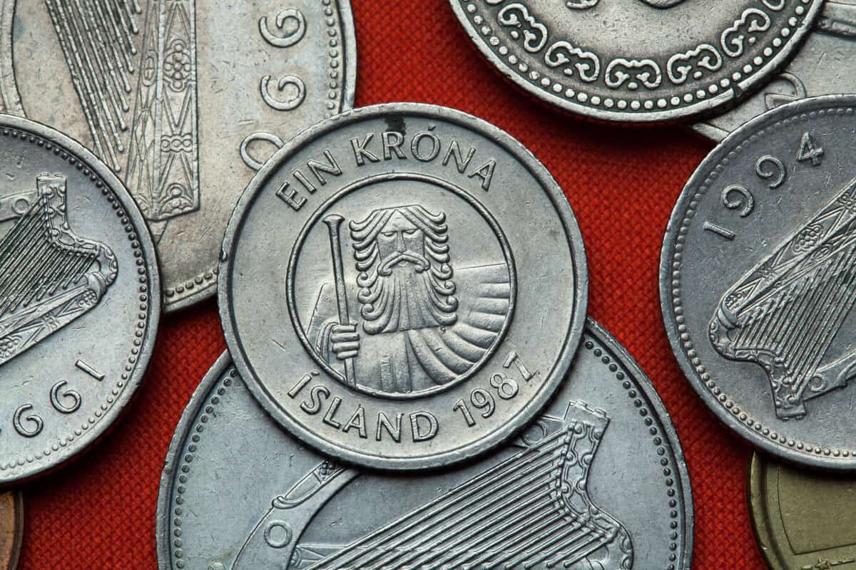 Iceland currency krona coins