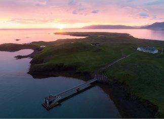 Videy island at sunset