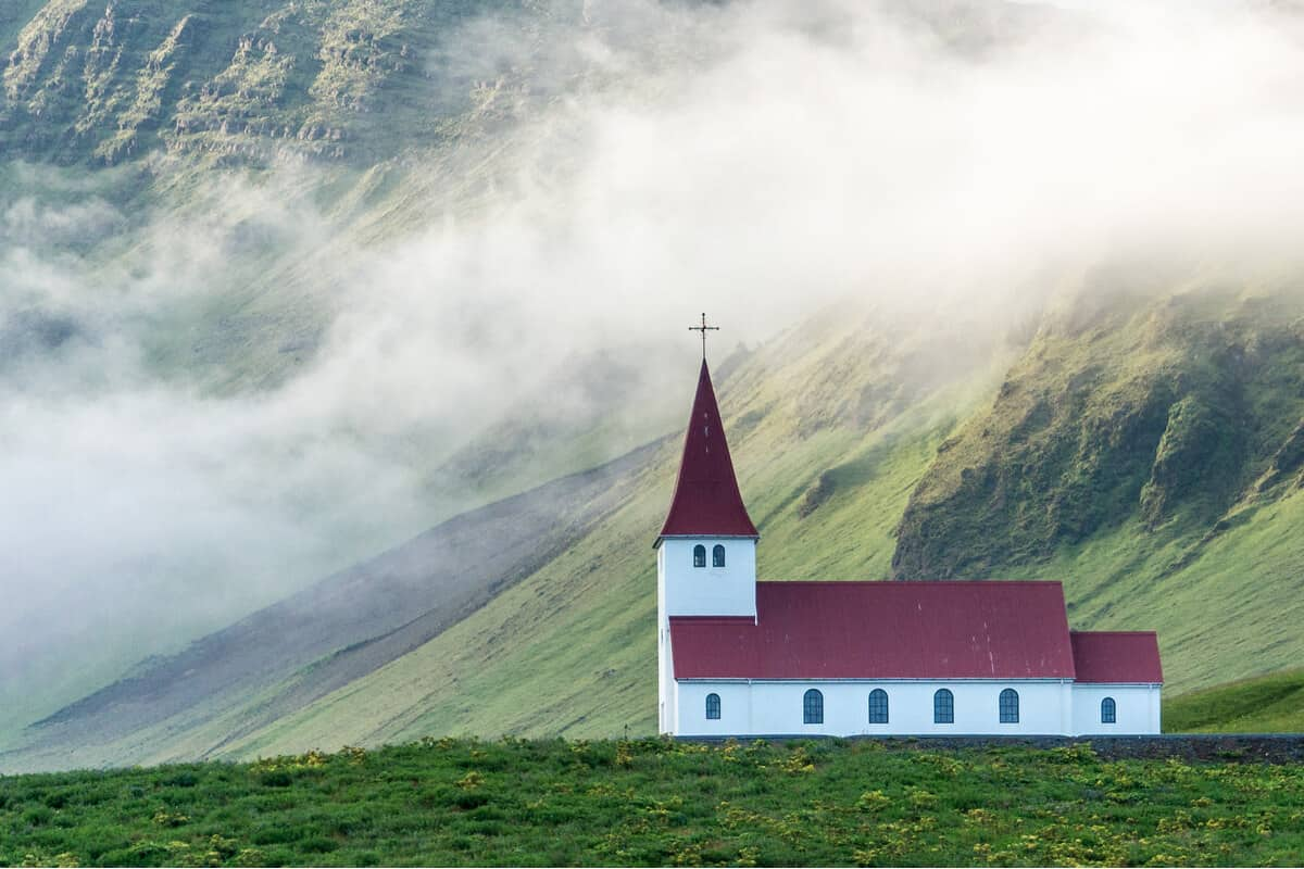 Vik church is one of the prettiest churches in Iceland