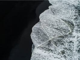 Iceland beaches black sand