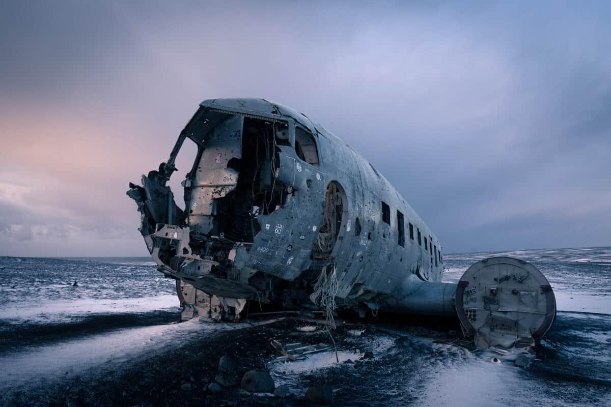 Iceland beaches Solheimasandur plane wreck