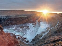 Golden Circle Tour Iceland Gullfoss waterfall