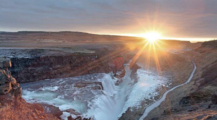 Golden Circle Tour Iceland Gullfoss waterfall