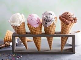 Iceland ice cream cones