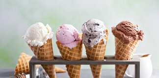 Iceland ice cream cones