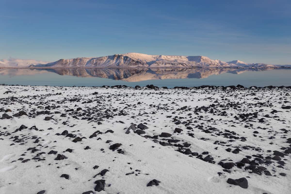 Mount Esja in winter