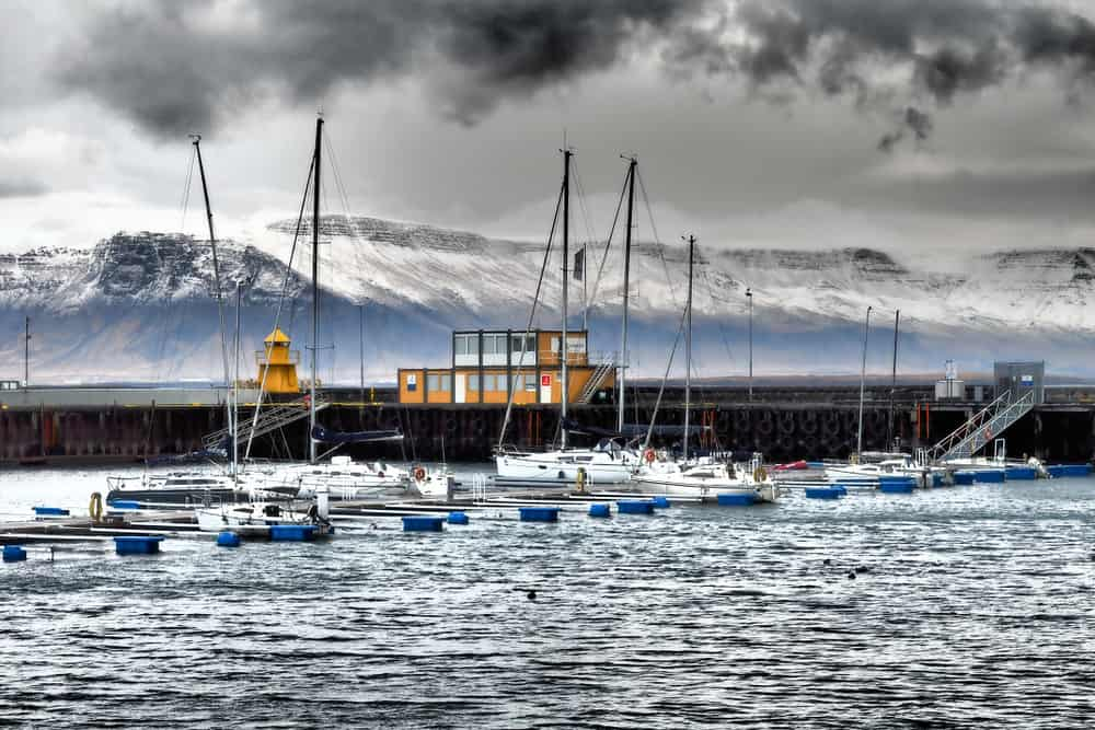 Old harbor of Reykjavik
