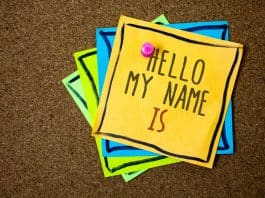Hello my name is tag pinned on board - Icelandic names